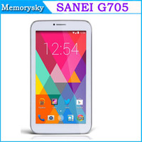 Wholesale Sanei G705 Inch G Tablet PC Android MT8312 Dual Core tablets GHz MB GB WIFI GPS Bluetooth Dual SIM
