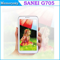 Wholesale 7 inch Sanei G705 Dual Core Tablets MTK8312 Android M G G Phone Tablet PC Dual SIM Bluetooth GPS WiFi
