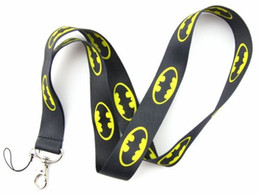Hot sale wholesale new style! lots 50pcs Batman Phone Lanyard Key ID Neck Strap free shipping