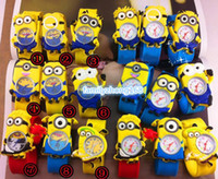 Wholesale Gift for Child Despicable Me Kids Minion Watch Children Cartoon watches anime plastic charms one piece select colourful