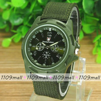fabric belts - 100pcs Fashion Nylon Fabric Belt for Watch Band Round Dial Student Military Men Sports casual Quartz Wristwatch with Logo colors