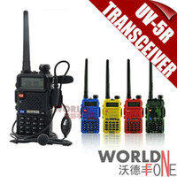 Wholesale BaoFeng UV R Walkie Talkie Dual Band Mhz Mhz Two Way Radio Transceiver with mAH Battery free earphone BF UV5R