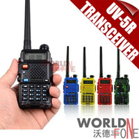 Wholesale FS BaoFeng UV R Dual Band Transceiver Mhz Mhz Walkie Talkie with mAH Battery free earphone BF UV5R
