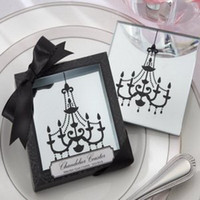 glass coasters - quot Chandelier quot Mirrored Glass Coasters set sets wedding favors amp gifts