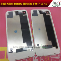 Wholesale With Flash Diffuser Back Glass Battery Housing Door Back Cover Replacement Part For iphone S Free DHL