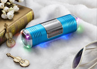 Wholesale Portable Mini Speaker with Display Screen Speakers LED Light Loudspeaker TF Card FM Radio Music Box Player for Phones Tablets PC MP3 MP4 DHL
