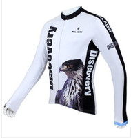 Wholesale SQ Cycling jerseys Men s long sleeve cycling jerseys discovery Shall the eagle fly
