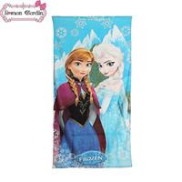 Wholesale 150CM CM FROZEN Princess Towel Frozen Elsa and Anna cotton towels bathroom children beach towel kids bath towel gmy