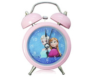 Wholesale 2014 New Arrive Hot Sell Europe Cartoon Frozen Princess Elsa Anna Clocks Originality Home Decor Children Gifts High Quality Alarm Clock A101