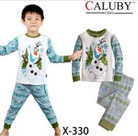 Unisex Spring / Autumn Short boy pajamas Frozen Pyjamas frozen baby girls clothing sets children kids summer pajamas child Anna Elsa princess clothes for 2-7T