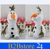 Wholesale 2014 New Arrival cm Cartoon Movie Frozen Olaf Plush Toys Cotton Stuffed Dolls Fast