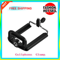 Universal Cellphone  Clamp   Universal Mobile Phone Tripod Clamp Cellphone Holder Standard 1 4 Screw With Standard Tripod Hole For Samsung And Other Brand's Cellphones