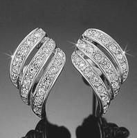 Stud american gps - 1piair Hot Sell Rhinestone Jewelry k Gold GP Crystal Wings Stud Earrings High Quality Free Ship JE06238