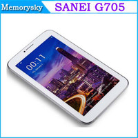 Wholesale 7inch Sanei G705 tablet pc MTK8312 Dual Core Android Phone Call Tablet PC Dual SIM GB ROM G Bluetooth GPS Phablet