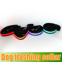 Wholesale Factory Colorful Flash Dog Leashes Night flashing collar amp led Leashes nylon webbing Dog Drag belt Decoration for Dog DHL Free churchill