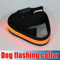 Wholesale Colorful Flash Dog Leashes Night flashing collar amp led Leashes Dog Drag belt Width cm length cm Red Yellow Orange Blue Green churchill