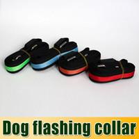 Wholesale DHL Free Flash Dog Leashes Night flashing collar amp led Leashes nylon webbing Dog Drag belt Red Yellow Orange Blue Green churchill