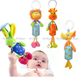 Wholesale Baby Toys New Arrivals Baby Hand Bell Animal Bed Car Hanging Bells Educational Toys Plush Toy Baby Mobile Musical J0053