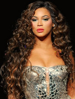 Wholesale beyonce s hairstyle lace front wig long style front lace wigs deep wave color b in stock remy hair made