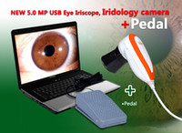 Wholesale NEW MP USB Eye Iridoscope Iris Iriscope Iridology camera Foot Pedal EH U P