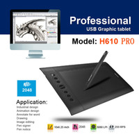 Wholesale 2014 new Huion H610 Pro LPI Resolution Levels Art Graphics Drawing tablet With Rechargeable Pen For Windows Mac OS