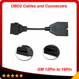 For GM Daewoo 12 Pin Male to OBD OBD2 OBDII DLC 16 Pin Female Car Diagnostic Tool Adapter for gm 12pin Converter Cable