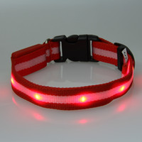 Chirstmas best pet tags - Best Colors LED Dog Pet colorful Light Flashing Safety Collar Tag Factory Offer directly
