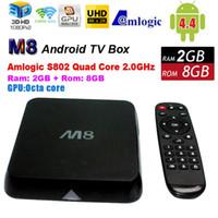 Quad Core Included 1080P (Full-HD) M8 Amlogic S802 TV Box Quad Octa Core Cortex-A9 XBMC Android 4.4 4K KitKat HDMI 2.4G 5G Dual Mali-450 WiFi Smart Media Player Mini PC HD