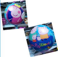 Multicolor balloon launching - 9 off in stock Crown Pig sister Porky Pig Space launch aluminum balloons inch sides of the balloon drop shipping on sale GX