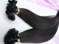 Brazilian Hair Natural Color Straight 6A Grade 100% Indian Keratin Hair Human Virgin Hair Flat-Tip Hair Extension Pre-bonded hair Extension Fashion Queen Hair 1g strand