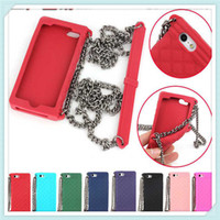 Wholesale New Arrivals BRAND LUXURY Silicone Handbag Cases with Chain for iphone G S C G S Samsung Galaxy S3 S4 Note2 Note3 Free DHL Shipping