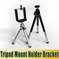 Wholesale Portable Adjustable Tripod Mount Holder Bracket Phone Clip Bracket Holder For iPhone S For Samsung Galaxy S3 S4 S5 For HTC