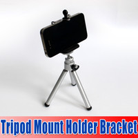 Wholesale Best Portable Adjustable Tripod Mount Holder Bracket Phone Clip Bracket Holder For iPhone S For Samsung Galaxy S3 For HTC