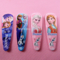 Wholesale Hot Sale Frozen Hair Clip Princess Elsa Anna Olaf Cartoon Headware Clip Children s HairClips Christmas Gift
