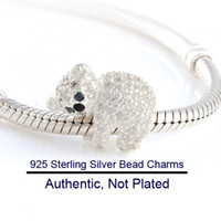 Wholesale Fits Pandora Bracelet Necklace Hot New Authentic Sterling Silver Zircon Beads Charm Women Jewelry DIY Jewelry