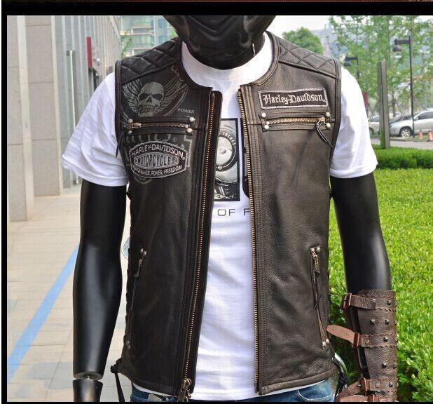 how to wear leather motorcycle vest over jacket