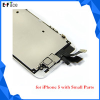 For Apple iPhone LCD Screen Panels White/Black Wholesale Q0007 iPhone 5 Replacement LCD Display + Touch Screen Digitizer with Small Parts Full Assembly -Free DHL Shipping