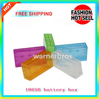 Wholesale 20pcs Factory price CR123A Battery Case Box Holder Storage Container H A For E Cigarette mod Battery newly hot sale