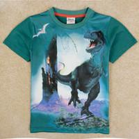 Wholesale 4y y baby boy clothing nova latest design animal dinosaur print short sleeve t shirts kids summer wear C5030Y