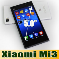 Wholesale Hot Original Xiaomi Mi3 Mobile Phone Qualcomm Quad Core Xiaomi M3 GB RAM GB ROM quot Miui V5 p mp Camera GPS DHL Free churchill
