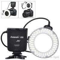 Wholesale Aputure Amaran Halo AHL HC100 Perfect LED Flash Light for Canon Camera with Brightness Stops CRI VCA_210