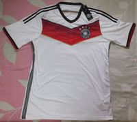 Wholesale Champion Germany Home Away Jerseys World Cup Soccer Jerseys Muller Klose Thai Quality Soccer Uniforms National Football Jerseys