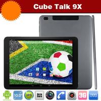 Cube Parler 9X Octa Core MTK8392 téléphone / tablette Android 4.4 2 GO 16 GO 32 GO 2048 x 1536 IPS Appareil photo 8 mégapixels 3G Sim Fente pour Carte GPS Bluetooth de la Tablette PC
