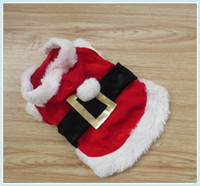 Wholesale Notely Christmas Dog Clothes Cute Santa Pet Clothing Warm Winter Small Medium Dog Cat