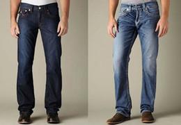 Wholesale New Men s Jeans True Brand high quality Fashion Classic Trousers Denim designer Straight Jean Pants For Men
