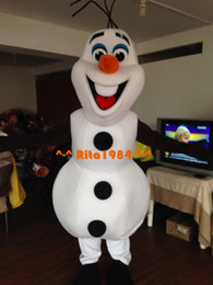 Wholesale Deluxe Smiling Frozen Olaf Mascot Costume Fancy Party Dress Suit