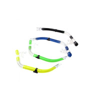 Wholesale Scuba Fishing Diving Silicone Snorkel Breathing Swimming Diving Sea Snorkeling Equipment Semi Dry Black Yellow Green Blue H10787