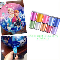 Wholesale 9 off in stock Free ribbon cm frozen elsa anna Foil balloons Birthday party decoratio drop shipping hot sale on sale GX