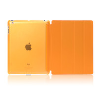 Wholesale 4 Fold Thin Magnetic Smart Case Cover Back Case With Sleep Wake Up PU PV For ipad air