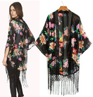 Wholesale New Boho Hippie Chiffon Casual Top Kimono Coat Cape Blazer Jacket